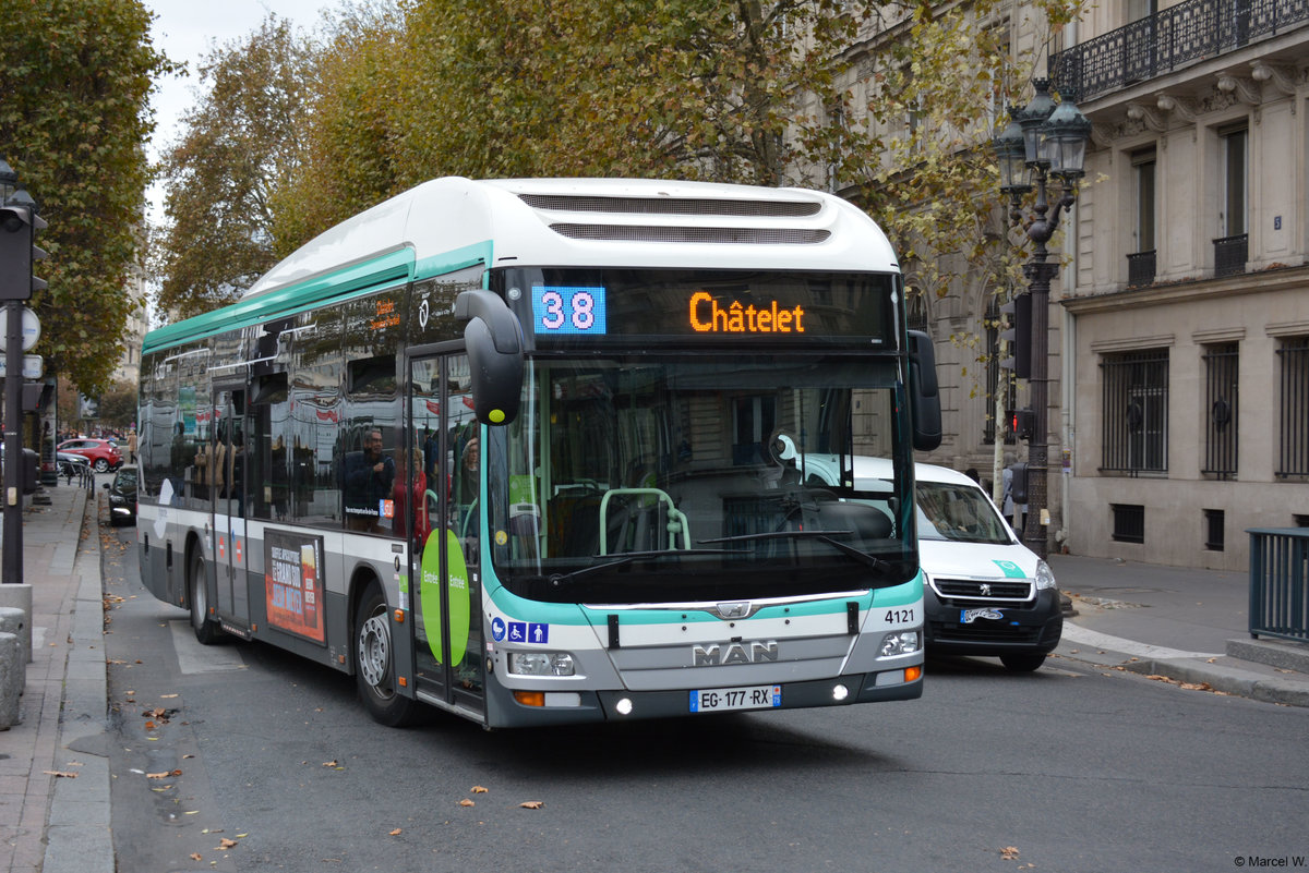 26.10.2018 / Frankreich - Paris / EG-177-RX -> MAN Lion's City Hybrid.