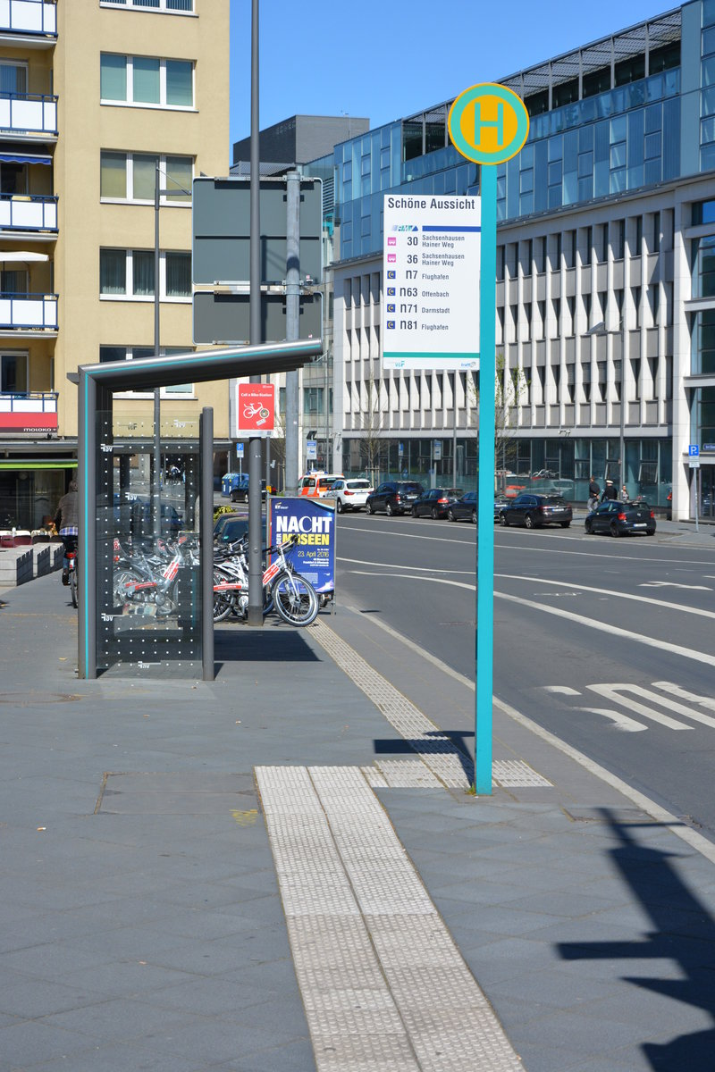 bushaltestelle frankfurt am main sch ne aussicht aufgenommen am. Black Bedroom Furniture Sets. Home Design Ideas