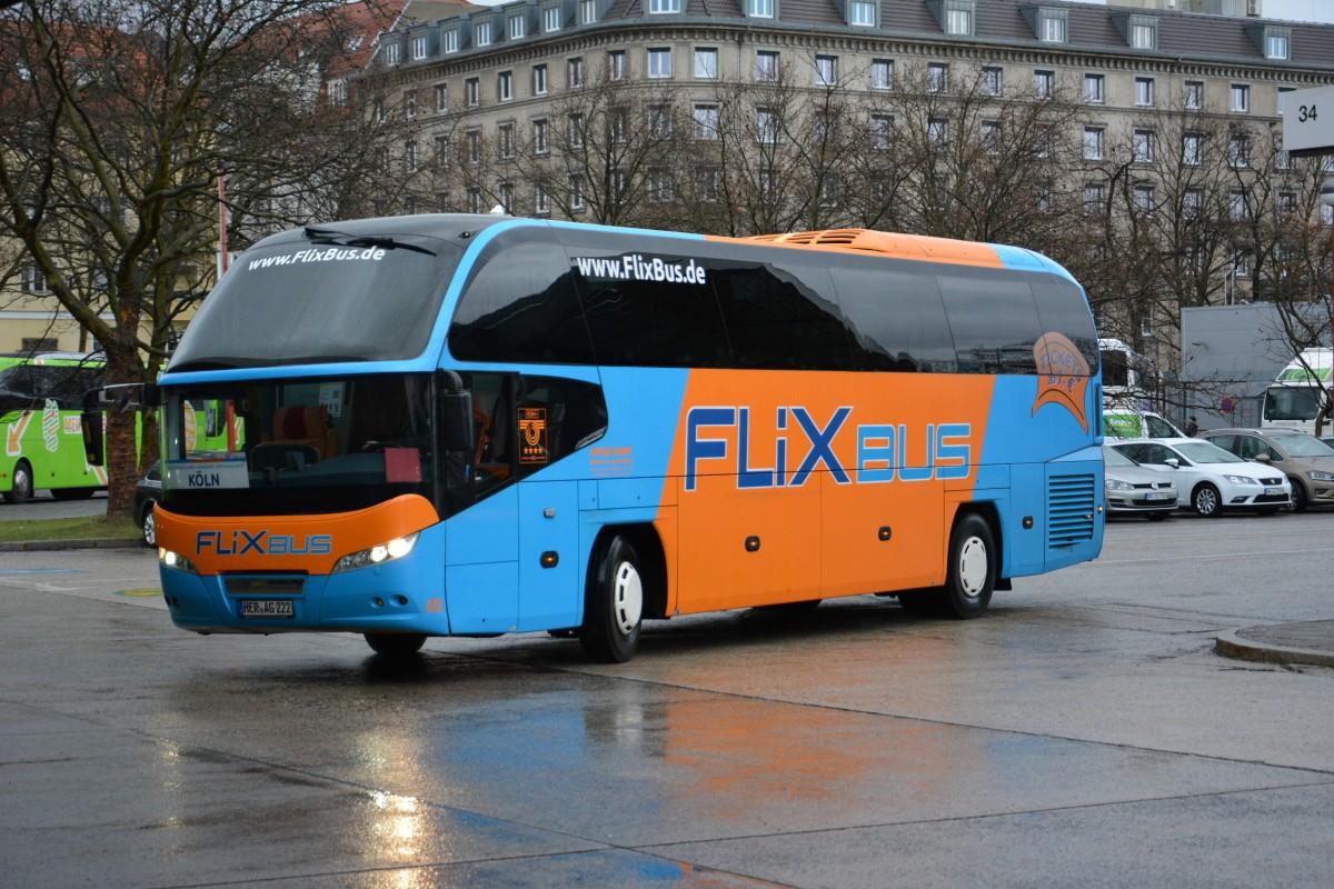 her ag 222 neoplan cityliner flixbus unterwegs am nach k ln aufgenommen am zob. Black Bedroom Furniture Sets. Home Design Ideas