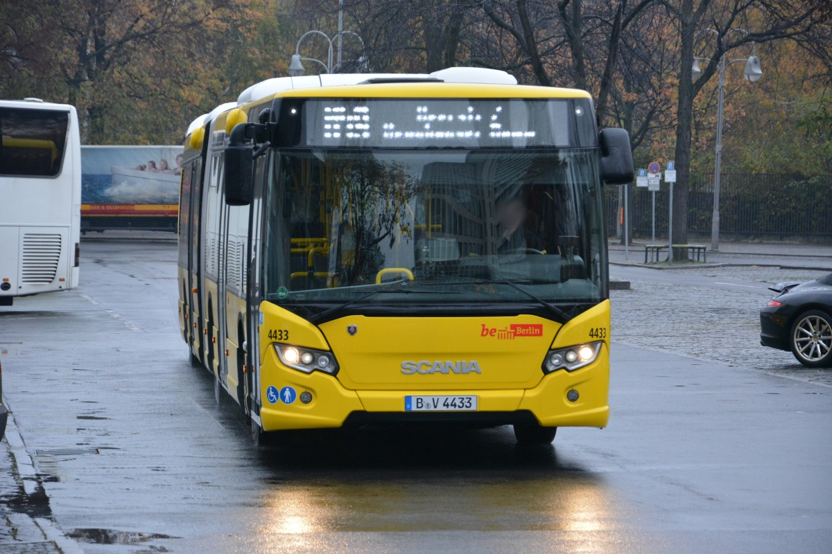 scania citywide der bvg mit dem kennzeichen b v 4433 auf der linie m49 am bahnhof zoo. Black Bedroom Furniture Sets. Home Design Ideas